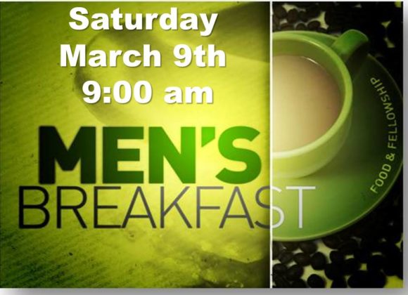 Men's Breakfast – Mar 9th