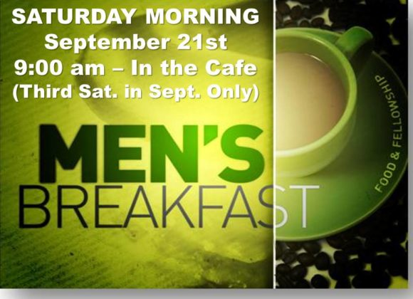 Men's Breakfast – Sept 21st