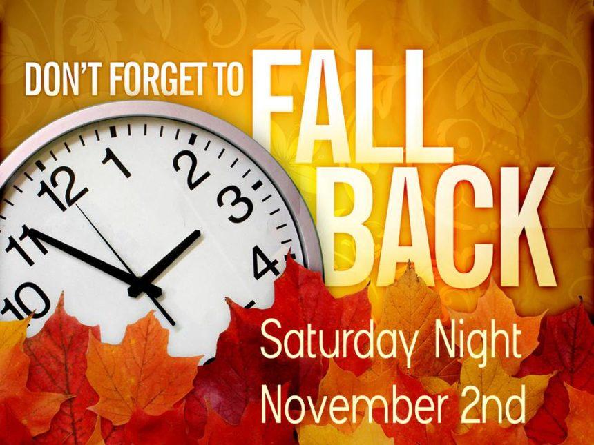 Fall Back – Nov 2nd