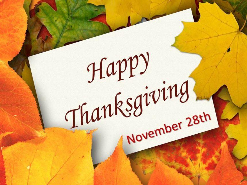 Thanksgiving – Nov 28th