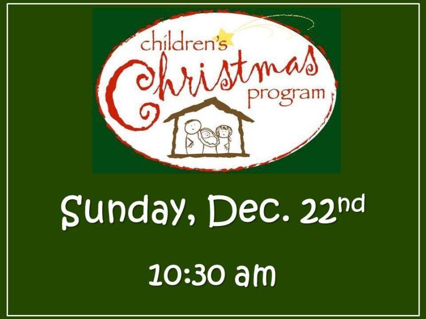 Children's Christmas Pgm